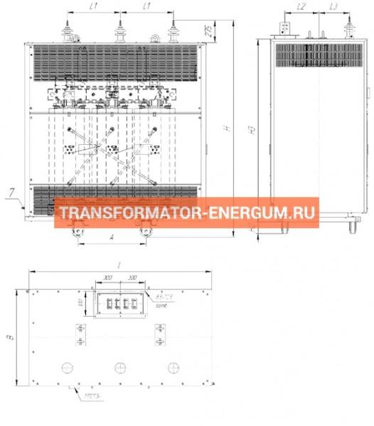 Трансформатор ТСЗЛ 100/6/0,4 фото чертежи от завода производителя