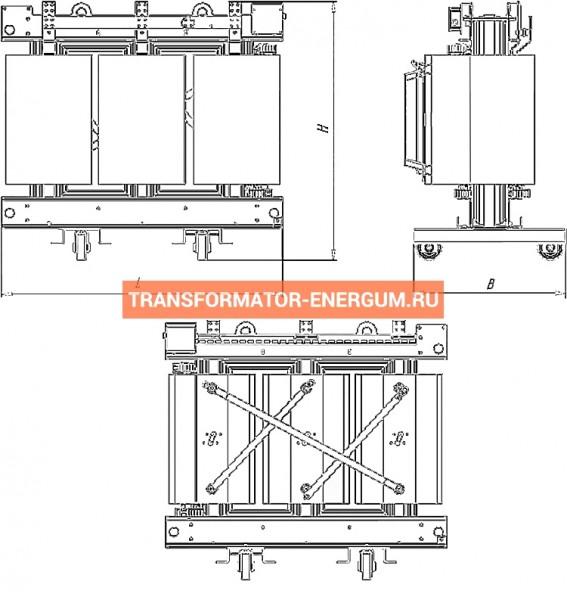Трансформатор ТСЗГЛ 1600/6/0,4 фото чертежи от завода производителя