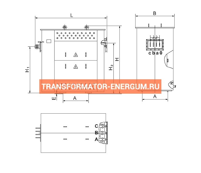 Трансформатор ТСЗГЛФ 1600/10/0,4 фото чертежи от завода производителя