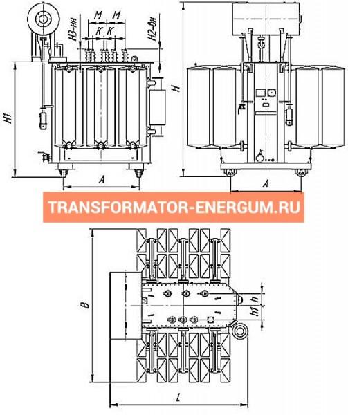 Трансформатор ТМ 4000 10 0,4 фото чертежи от завода производителя