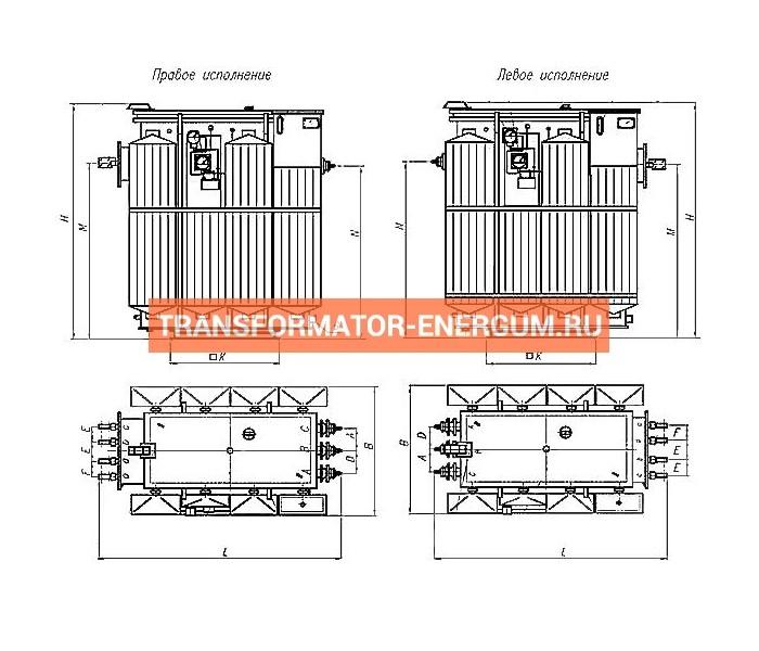 Трансформатор ТМЗ 1600 10 0,4 фото чертежи от завода производителя
