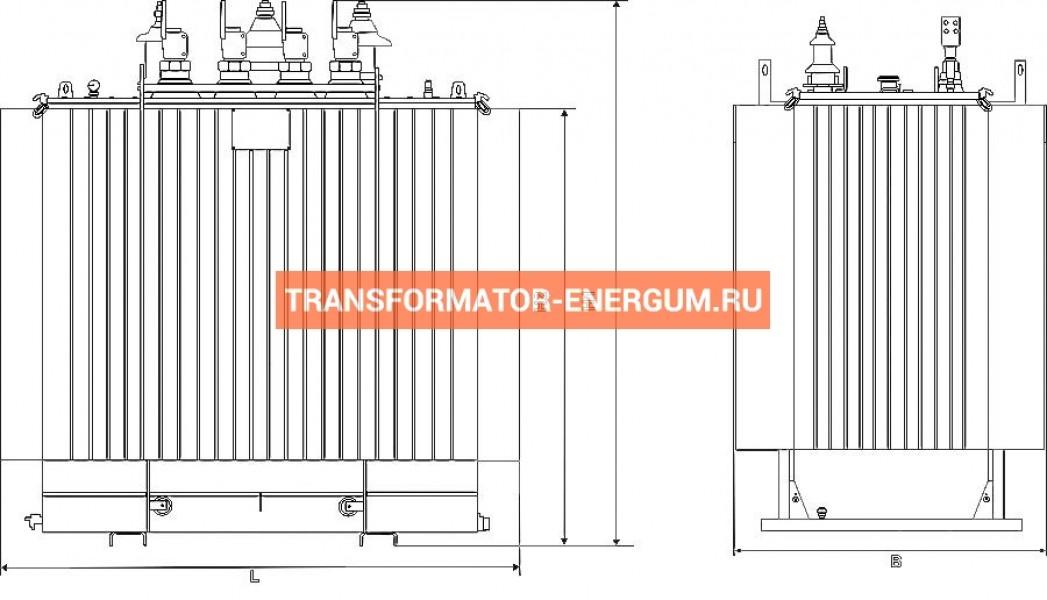 Трансформатор ТМГ11 400 6 0,4 фото чертежи от завода производителя