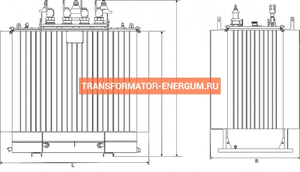 Трансформатор ТМГ11 1600 6 0,4 фото чертежи от завода производителя