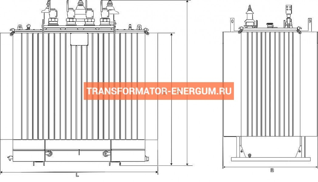 Трансформатор ТМГ21 250 10 0,4 фото чертежи от завода производителя