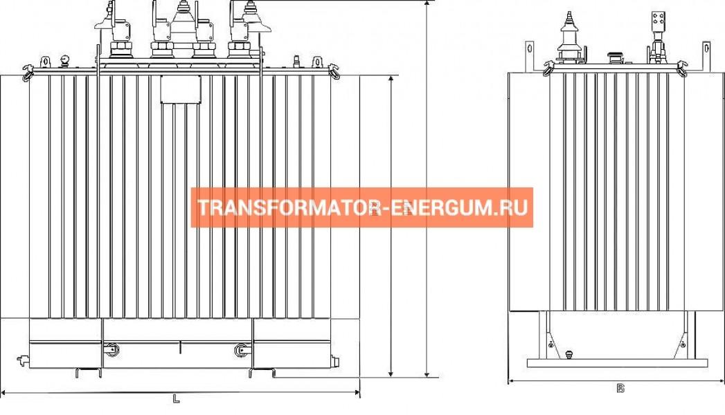 Трансформатор ТМГ21 400 6 0,4 фото чертежи от завода производителя