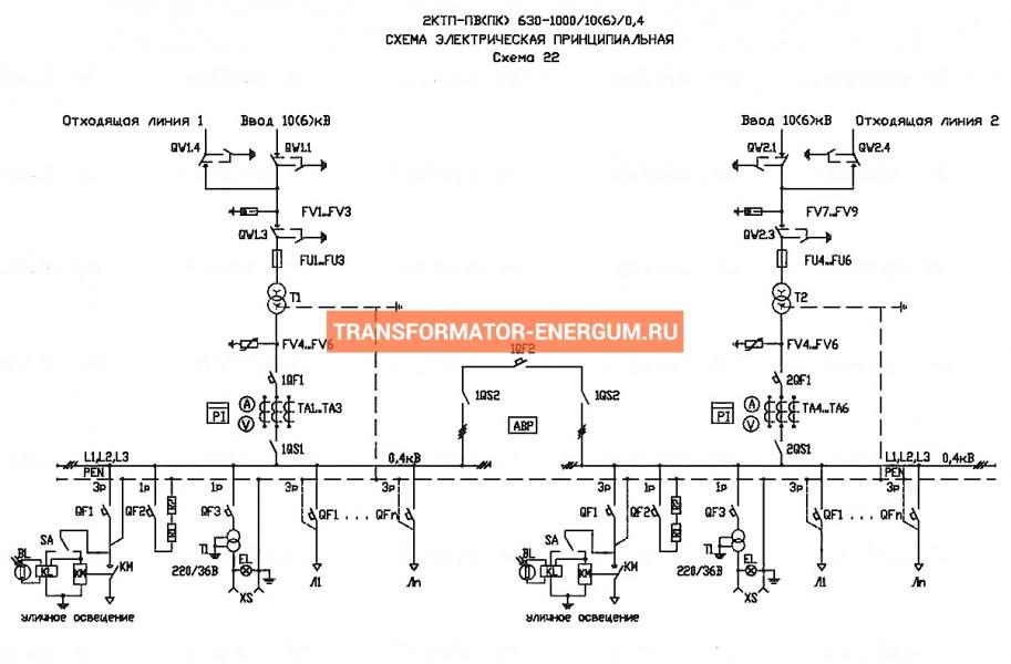 Подстанция 2КТП-ПК 630/6/0,4 фото чертежи от завода производителя
