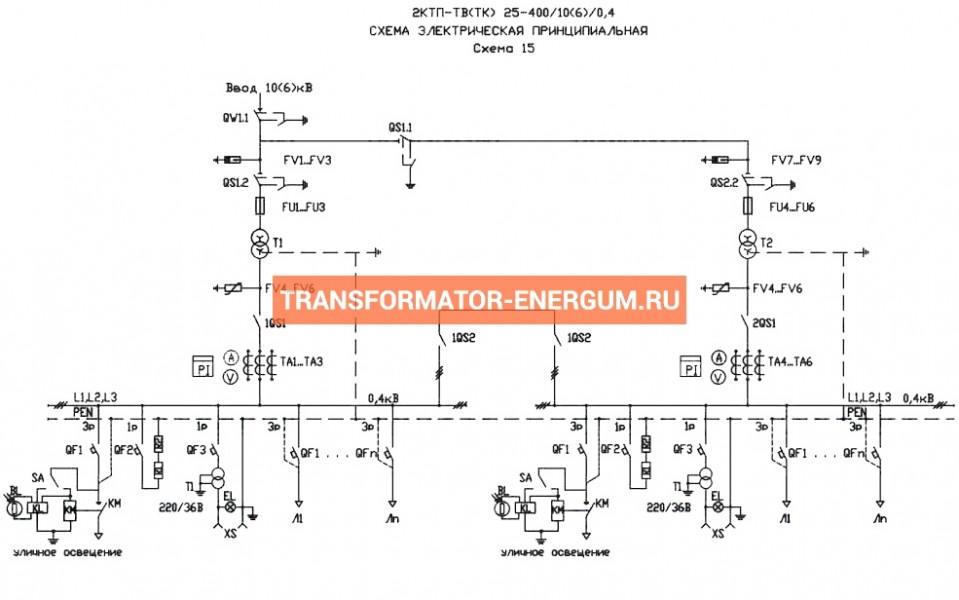 Подстанция 2КТП-ТК 250/6/0,4 (КВа) Тупиковая Кабельная фото чертежи завода производителя