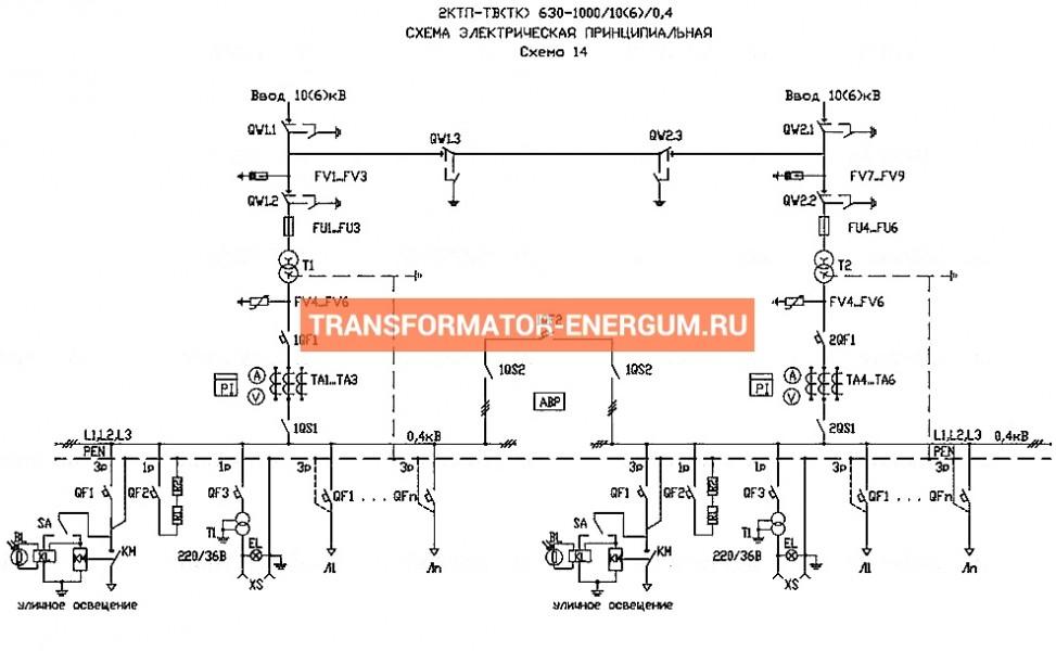 Подстанция 2КТП-ТК 630/10/0,4 (КВа) Тупиковая Кабельная фото чертежи завода производителя
