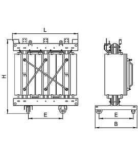 Трансформатор ТСЛ 100/6/0,4 с литой изоляцией фото чертежи завода производителя