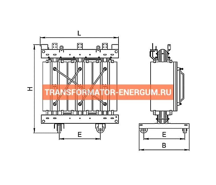Трансформатор ТСЛ 400/10/0,4 с литой изоляцией фото чертежи завода производителя