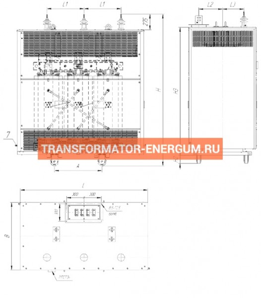 Трансформатор ТСЗЛ 400/10/0,4 фото чертежи от завода производителя