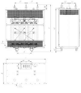 Трансформатор ТСЗЛ 1250/10/0,4 фото чертежи завода производителя