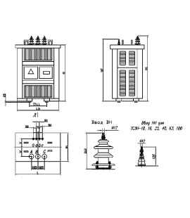 Трансформатор ТСЗН 1000/6/0,4 фото чертежи завода производителя