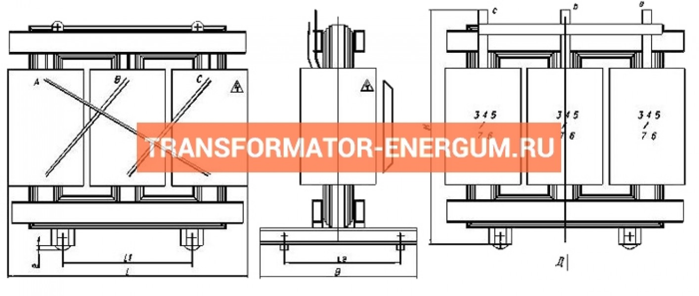 Трансформатор ТСГЛ 250/10/0,4 фото чертежи завода производителя