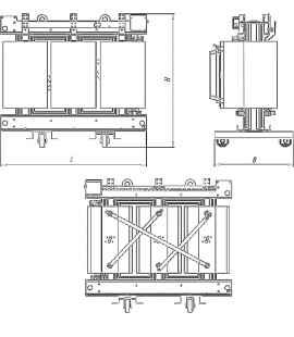 Трансформатор ТСЗГЛ 1600/10/0,4 фото чертежи завода производителя