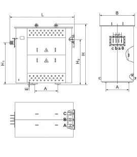 Трансформатор ТСЗГЛФ 1000/10/0,4 фото чертежи завода производителя