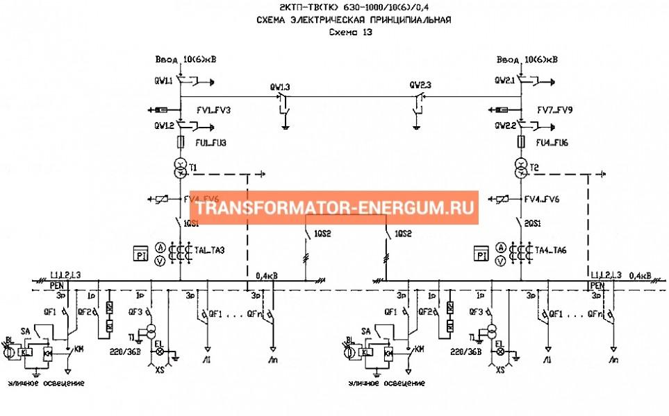 2КТП-1000/10/0,4 КВа (Комплектные Подстанции) фото чертежи завода производителя