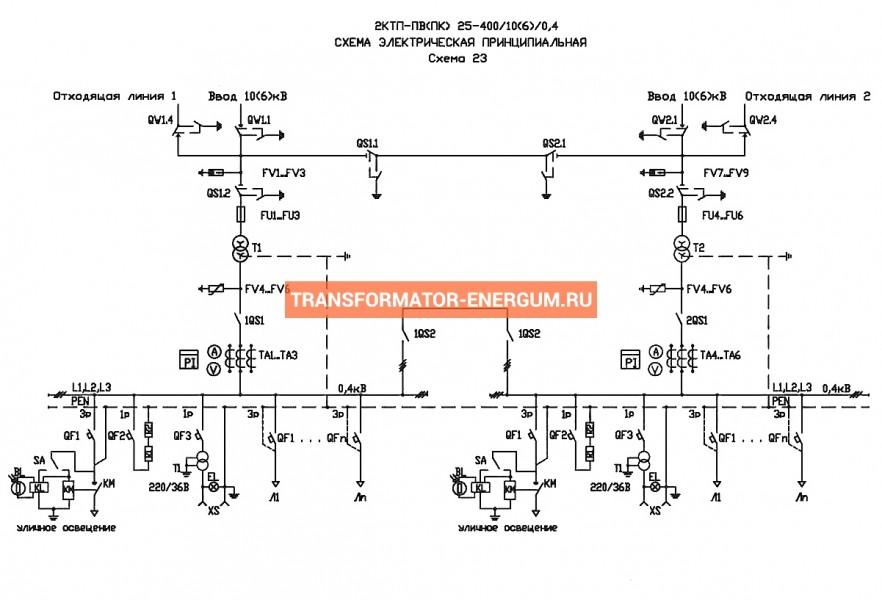 Подстанция 2КТП-ПВ 40/10/0,4 (КВа) Проходная Воздушная фото чертежи завода производителя