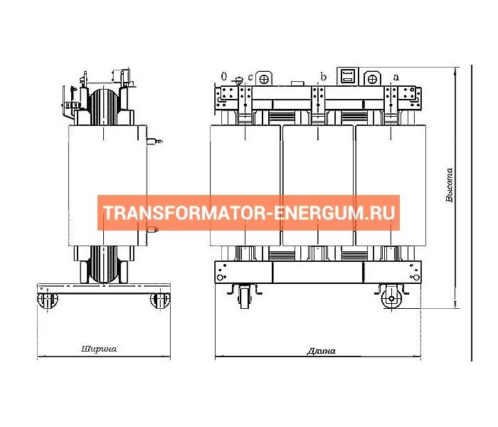 Трансформатор сухой ТС 40/10/0,4 фото чертежи завода производителя