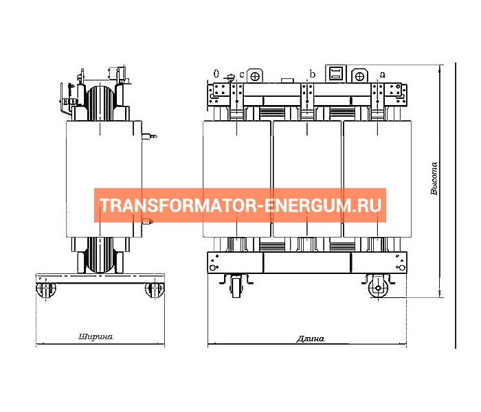 Трансформатор сухой ТС 40/6/0,4 фото чертежи завода производителя