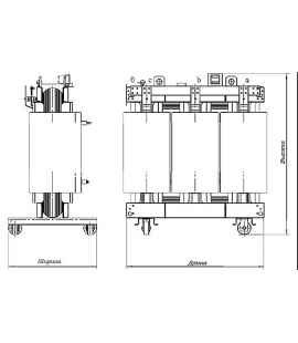 Трансформатор сухой ТС 630/10/0,4 фото чертежи завода производителя