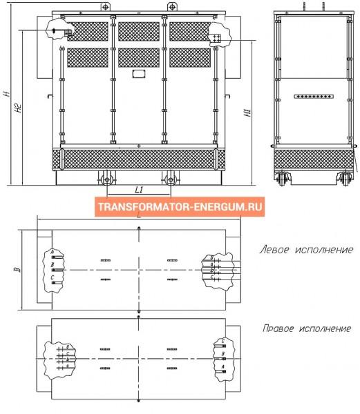 Трансформатор сухой ТСЗ 100/6/0,4 фото чертежи завода производителя