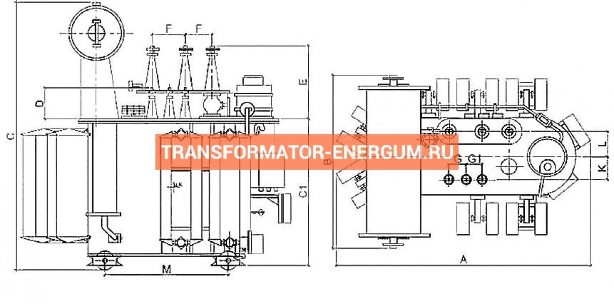 Трансформатор ТМН 1000 35 10 фото чертежи от завода производителя