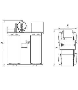 Трансформатор ТМФ 630 6 0,4 фото чертежи завода производителя