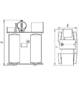 Трансформатор ТМФ 1000 10 0,4 фото чертежи завода производителя