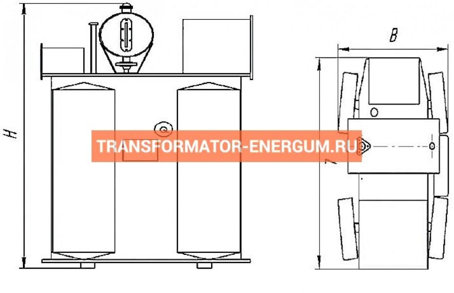 Трансформатор ТМФ 1000 10 0,4 фото чертежи от завода производителя