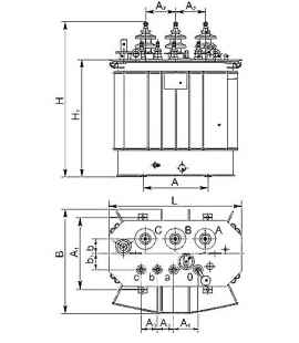 Трансформатор ТМГСУ 160 10 0,4 фото чертежи завода производителя