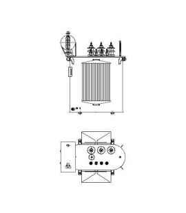 Трансформатор силовой ТР Р 160 кВА фото чертежи завода производителя