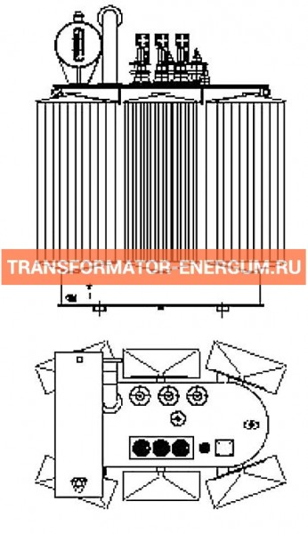 Трансформатор силовой ТР Р 1600 10 0,4 фото чертежи завода производителя