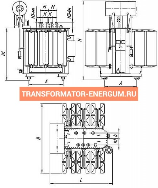 Трансформатор силовой ТР Р 6300 10 0,4 фото чертежи завода производителя