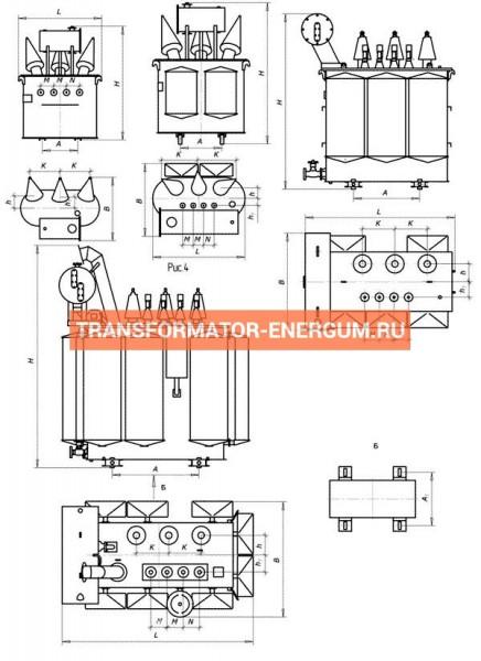 Трансформатор ТМЖ 400/27,5/0,4 фото чертежи завода производителя