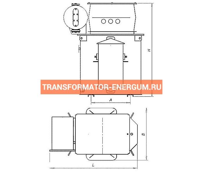 Трансформатор ТМЭ 63/10/0,4 фото чертежи завода производителя