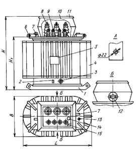Трансформатор ТМБГ 630/10/0,4 фото чертежи завода производителя