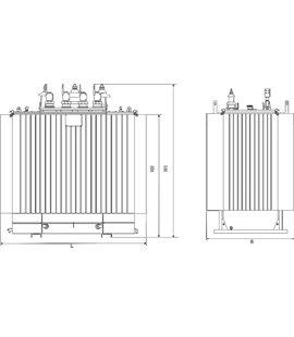Трансформатор ТМГ 250 10,5 0,59 фото чертежи завода производителя