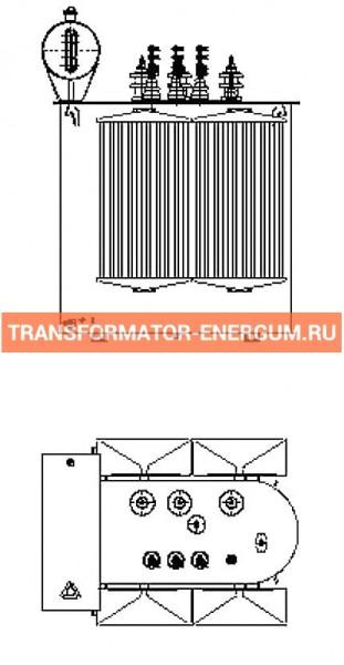 Трехфазный масляный трансформатор 630 кВА фото чертежи завода производителя