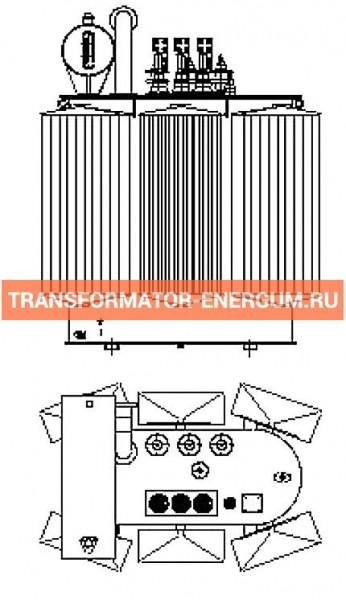 Трехфазный масляный трансформатор 1600 10 0,4 фото чертежи завода производителя