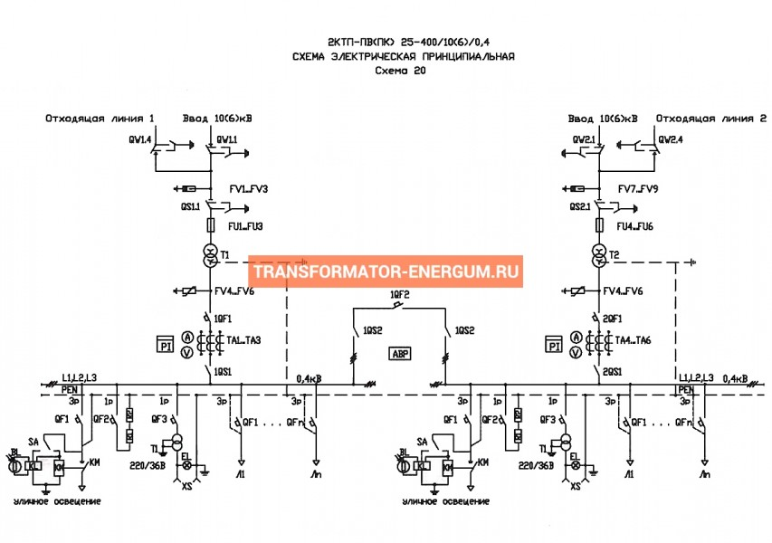 Подстанция 2КТП-ПК 40/6/0,4 (КВа) Проходная Кабельная фото чертежи завода производителя