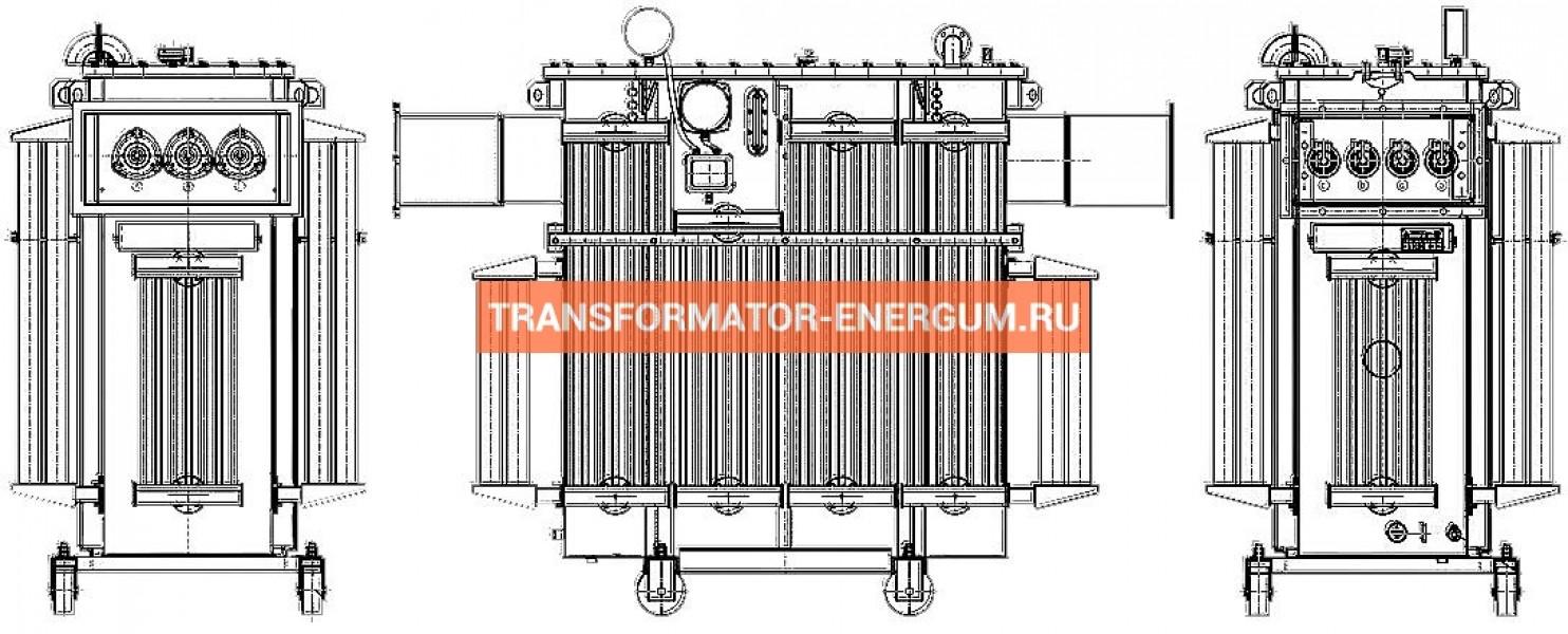 Трансформатор ТМГФ 1600 10 0,4 фото чертежи завода производителя