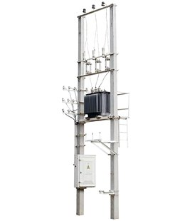 Подстанция столбовая СТП КТП ТП 160/6/0,4 фото чертежи завода производителя