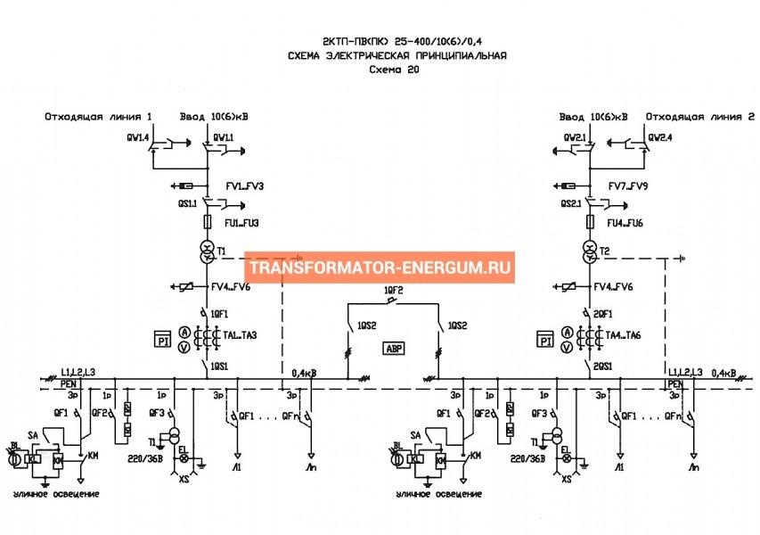 Подстанция 2КТП-ПК 400/10/0,4 (КВа) Проходная Кабельная фото чертежи завода производителя