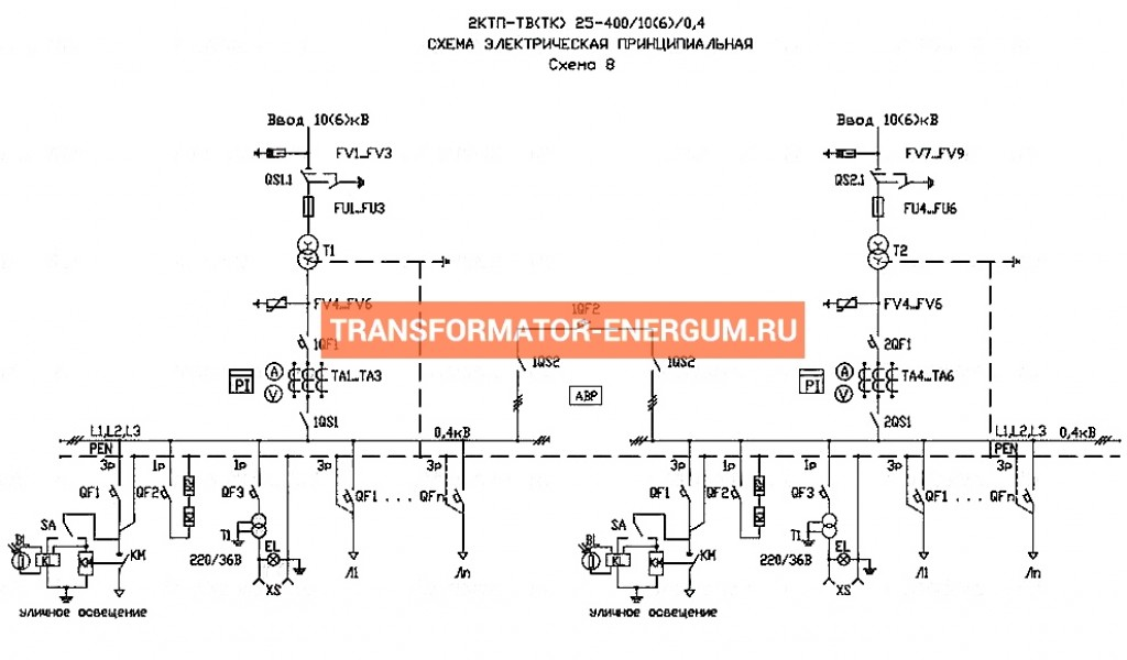 Подстанция 2КТП-ТВ 40/6/0,4 (КВа) Тупиковая Воздушная фото чертежи завода производителя
