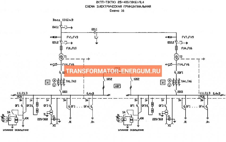 Подстанция 2КТП-ТВ 40/10/0,4 (КВа) Тупиковая Воздушная фото чертежи завода производителя