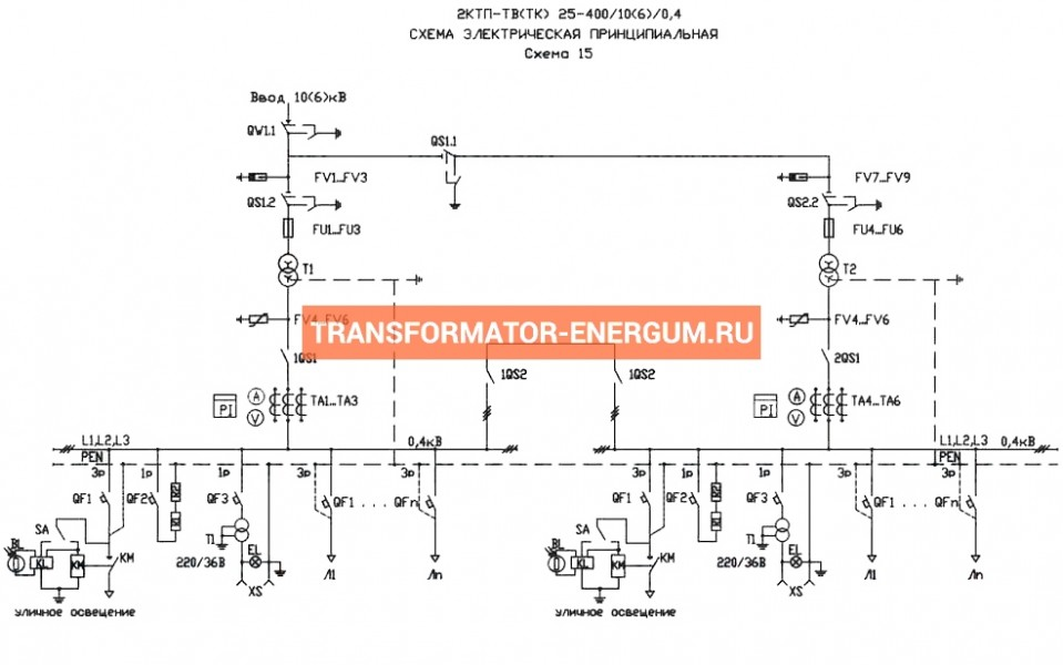 Подстанция 2КТП-ТВ 160/10/0,4 (КВа) Тупиковая Воздушная фото чертежи завода производителя
