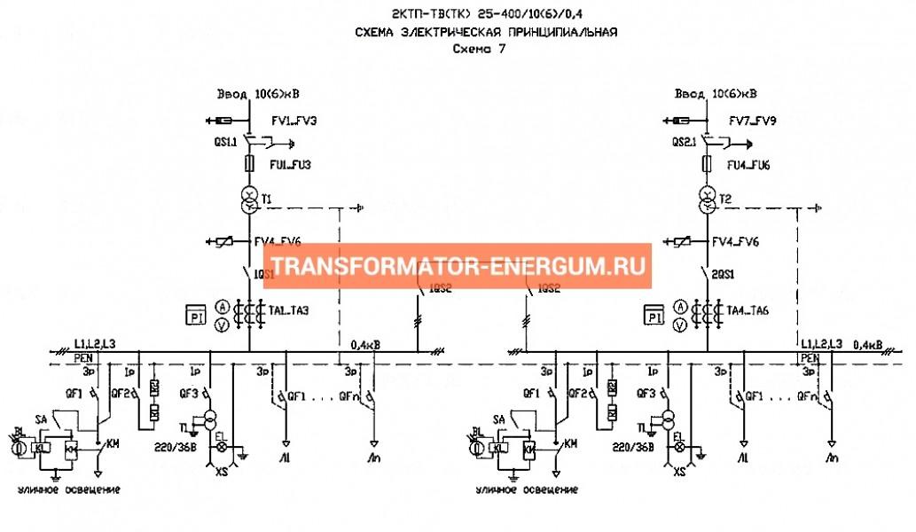 Подстанция 2КТП-ТВ 250/10/0,4 (КВа) Тупиковая Воздушная фото чертежи завода производителя