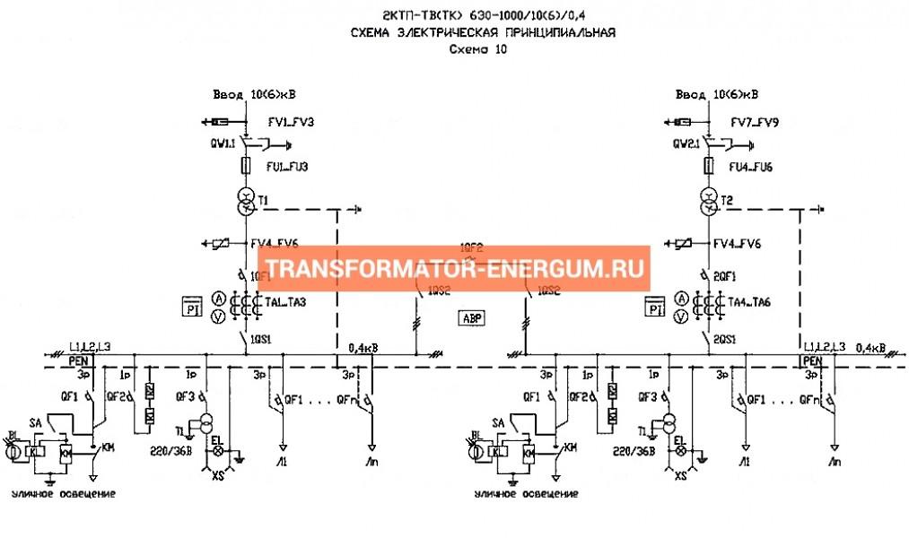 Подстанция 2КТП-ТВ 1000/6/0,4 (КВа) Тупиковая Воздушная фото чертежи завода производителя